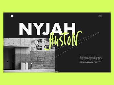 Web Exploration - Nyjah Huston nike brand design brand layout exploration layoutdesign layouts layout skateboarding skating skateboards skateboard skater skate huston nyjah design ux ui