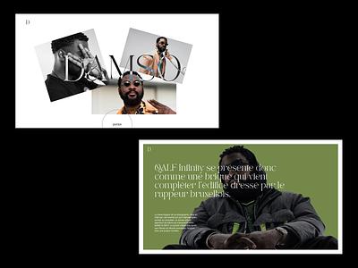 Layout & Typo exploration damso music player music art music app musician music typographic typogaphy typography typo branding illustration design ux ui