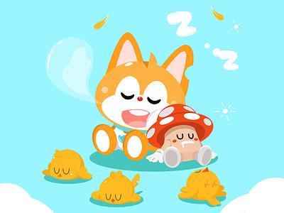 Have a good sleep leo illustration cute cartoon design graphic vector