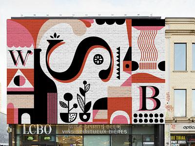 LCBO - Mural geometric illustration geometric signage murals mural vector illustration
