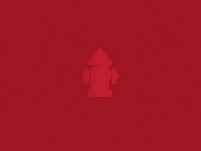 Hydrant illustration icon red