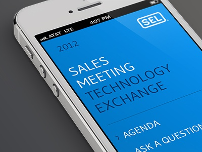 Sales Meeting Mobile Site mobile ui user interface blue typography