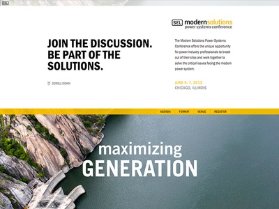 Modern Solutions Conference site responsive ui clean parallax website design