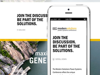 Modern Solutions Conference site responsive responsive ui clean parallax website design