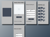 Rent-A-Car Wireframe