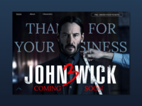 John Wick Chapter 3 landing page concept