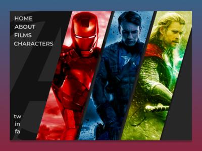 Avengers Assemble website concept