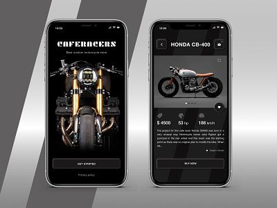 Caferaccers Store app webdesign minimal uxdesign ui design website web ux ui design