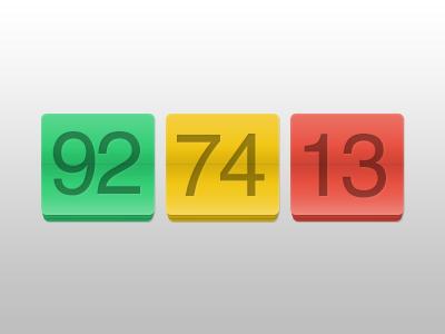 Report Scoring via Number Flip reporting score scoreboard interface photoshop ui psd