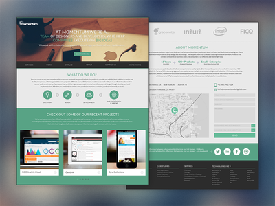 Momentum Design Lab (Single Page - Redesign)