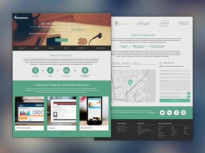 Momentum Design Lab (Single Page - Redesign) website redesign ux ui