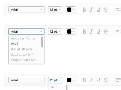 Rich Text Editor Toolbar menu rich text editor toolbar ui ux