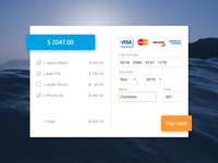 DailyUI 002-Credit Card payment