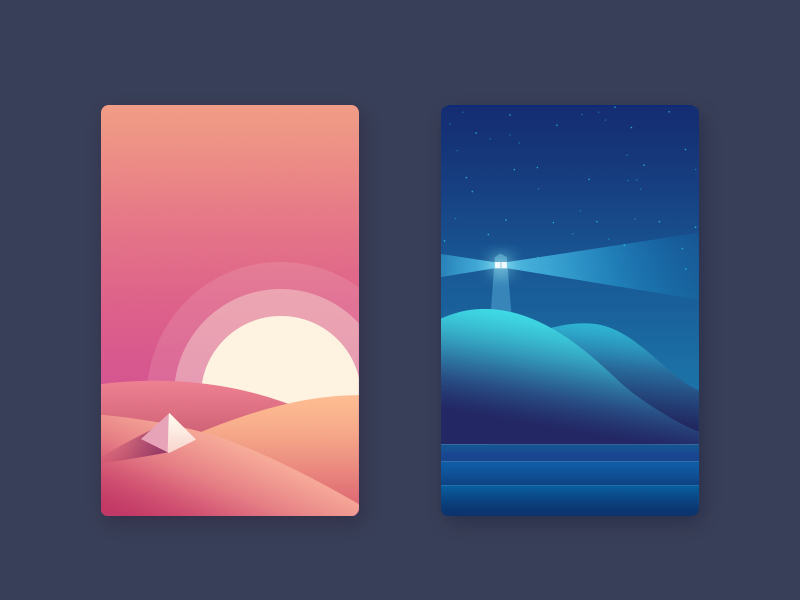 Day And Night by oumomo - Dribbble