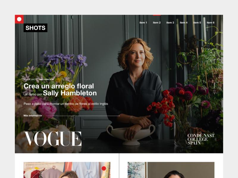 CNC SHOTS desktop course fashion editorial ui website design web shots vogue platform education