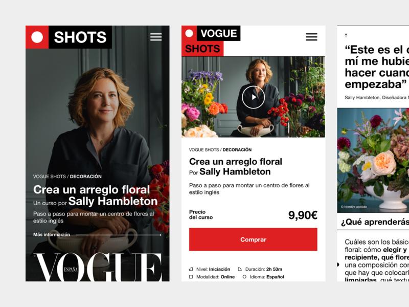 CNC SHOTS layout editorial shots mobile ux ui fashion vogue platform course