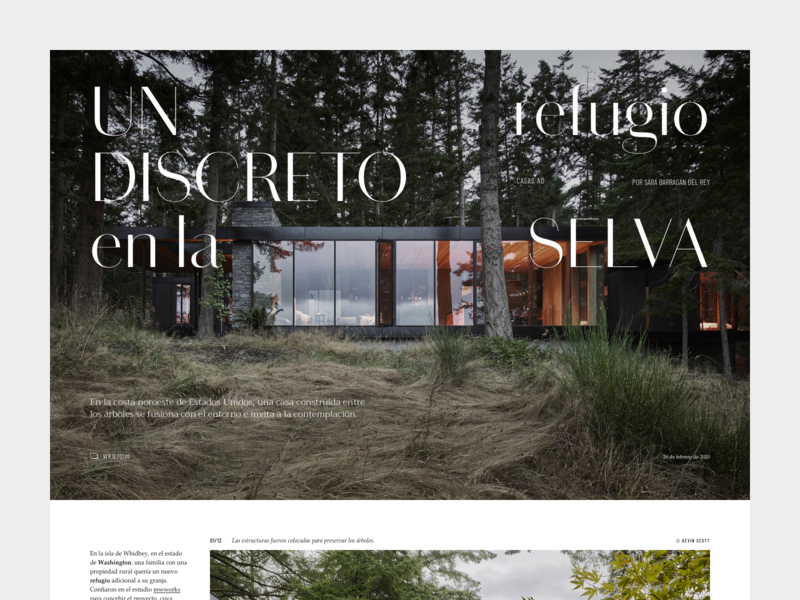 Layout exploration #05 architecture deco desktop ui photography layout design typography editorial type
