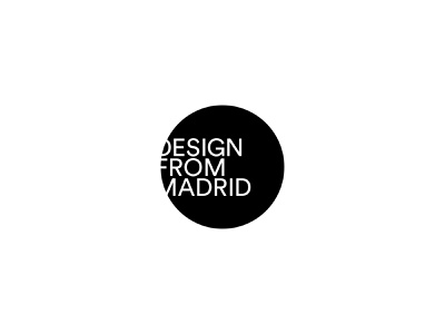 Design From Madrid madrid icon type black design typography vector branding logo