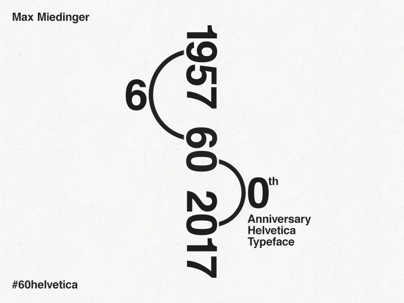 60th Anniversary Helvetica Typeface max miedinger tribute anniversary typeface helvetica