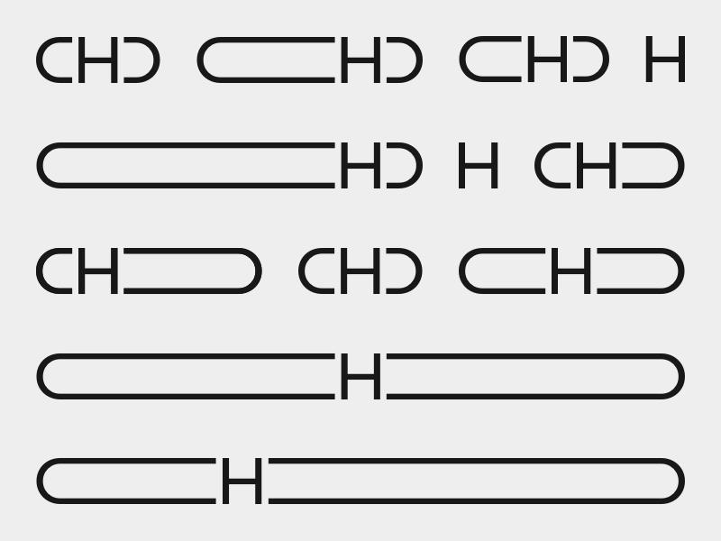 H typography type adaptive brand branding logo