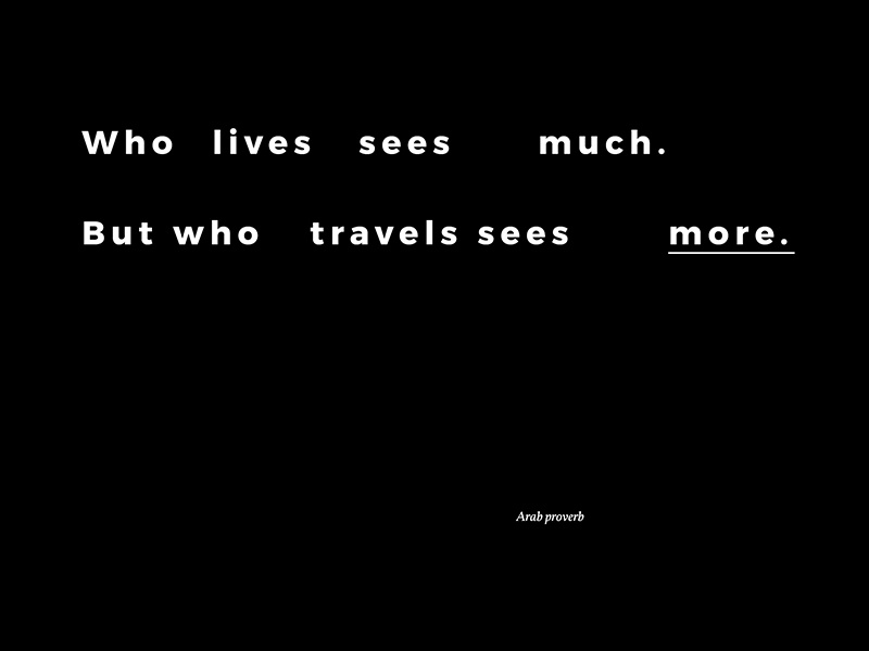 Travel quote #02 typography type quote travel