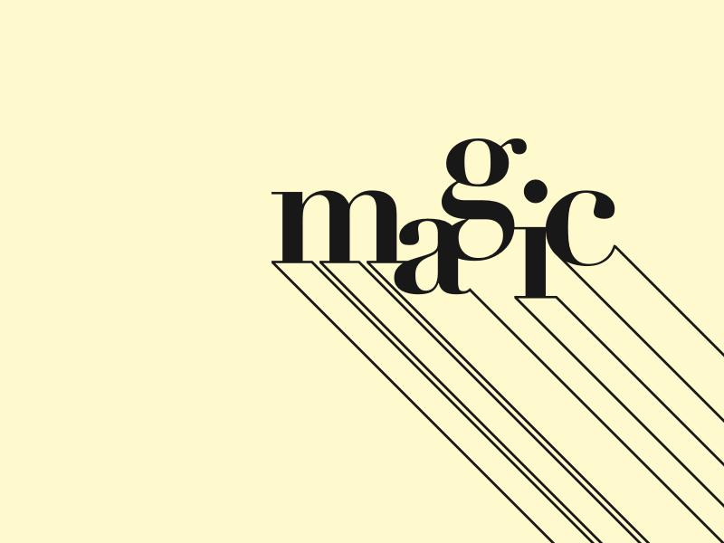 Magic serif typography type doodle magic