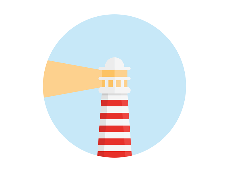 Lighthouse guide sea illustration light lighthouse