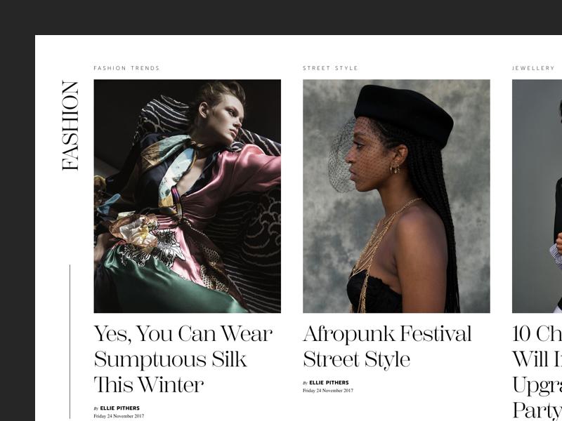 Layout exploration #03 photography editorial magazine fashion type layout