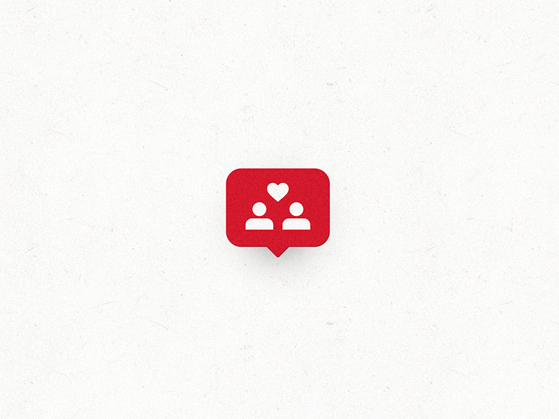 We found love red notification instagram illustration editorial concept