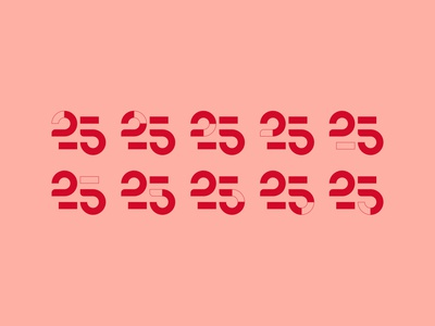 25 / Unused proposal anniversary 25 illustration brand logo design motion typography editorial type