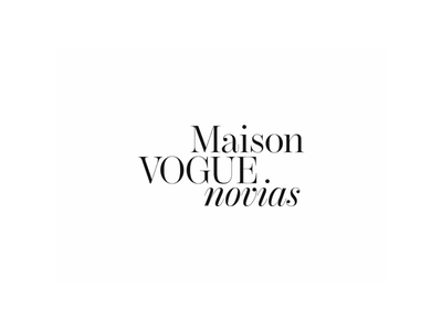 Maison Vogue Novias Identity vogue event brides brand fashion logo design black typography editorial type