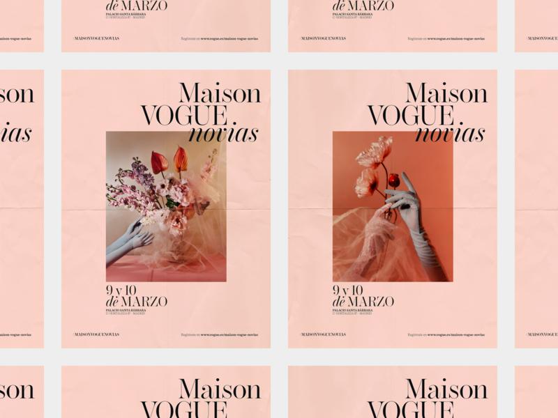Maison Vogue Novias Poster design event vogue bride photography fashion layout design typography editorial type