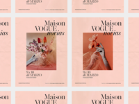 Maison Vogue Novias Poster design