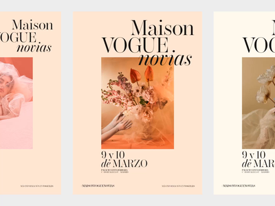 Maison Vogue Novias Poster design explorations logo brand photography fashion design typography editorial type