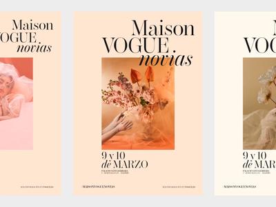 Maison Vogue Novias Poster design explorations logo brand photography fashion design typography editorial type