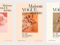 Maison Vogue Novias Poster design explorations