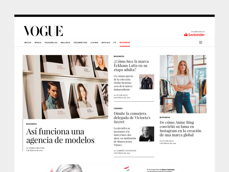 Vogue Business Spain ux type ui layout fashion design editorial business vogue