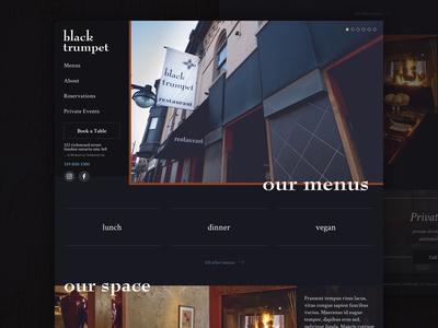 Black Trumpet Restaurant Website Re-design | Real Project