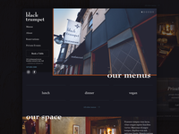 Black Trumpet Restaurant Website Re-design | Real Project