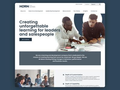 Horn Sales & Leadership Development Website Re-design