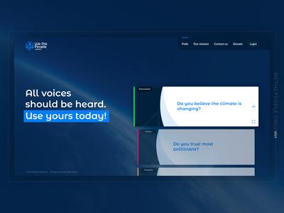 WethePeople | Online News & Poll Survey Web App