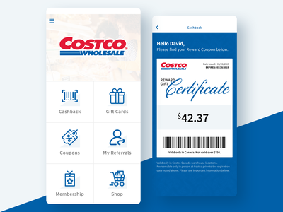Costco Reward Concept App