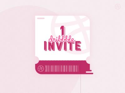 1 Dribbble Invite!