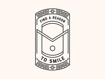 OM Series   Find a reason to smile :) meditation joy happy feel good badge reason smile monogram mindfulness buddha sky sun third eye eye branding yoga om
