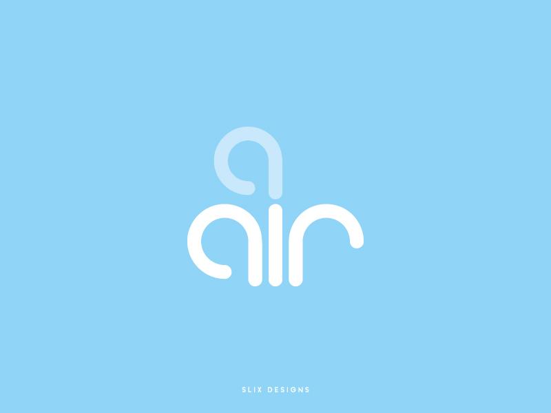 Air Logo flat vector typography design illustration branding logo air