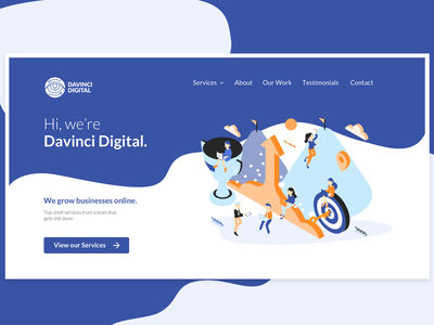 DaVinci Digital Homepage Redesign website branding illustration web design