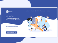 DaVinci Digital Homepage Redesign