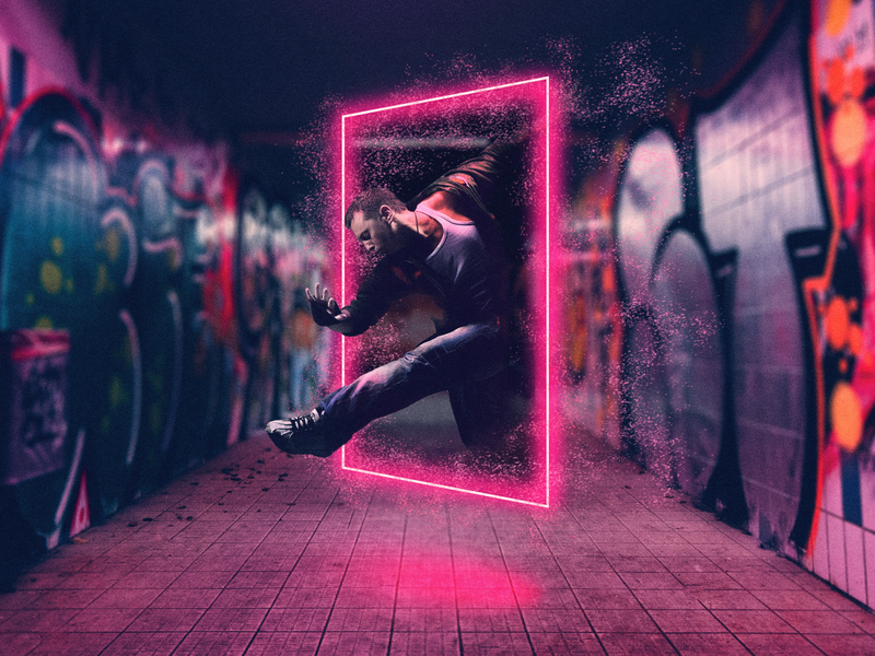 Subway Portal photograhy effects graphic art graphic  design design photo manipulation photoshop art photoshop