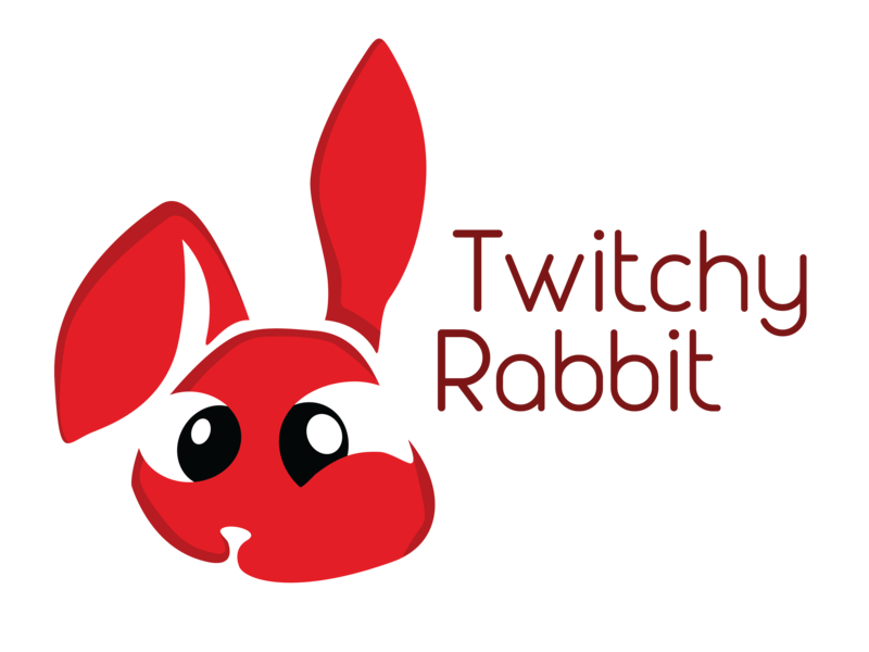 Twitchy Rabbit thirtylogos twitchyrabbit 30daychallenge 30 day logo challenge vector tracing vector branding logo illustration vector art graphic design graphic art design