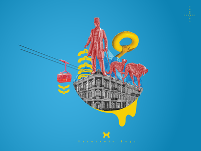 Reservoir Dogs poster design color beast abstract collage art illustration